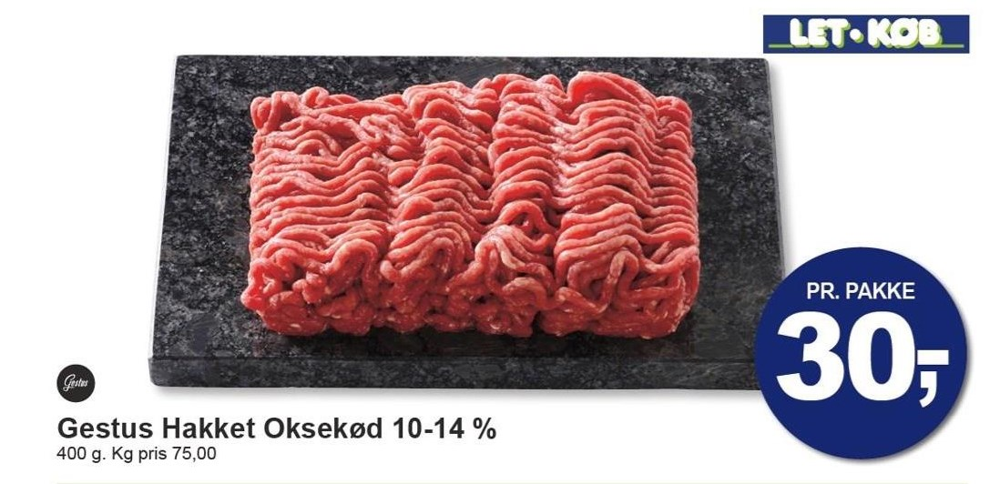 Gestus Hakket Oksekød 10-14%