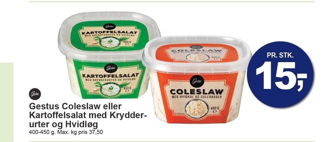Gestus Coleslaw eller Kartoffelsalat med Krydderurter og Hvidløg
