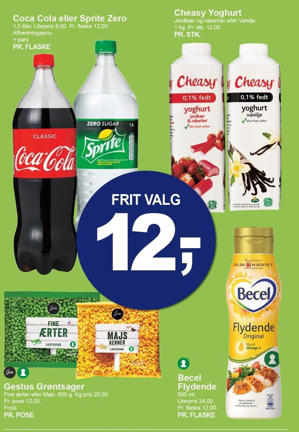 Fritvalgsmarked - Coca Cola eller Sprite Zero