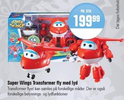 Super Wings Transformer fly med lyd