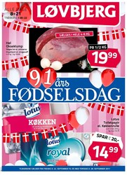 Løvbjerg: Gyldig t.o.m tor 28/9