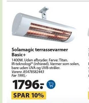 Solamagic terrassevarmer Basic+