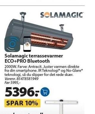 Solamagic terrassevarmer ECO+PRO Bluetooth