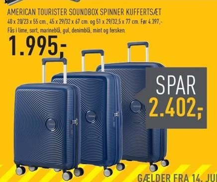 American Tourister Soundbox Spinner Kuffertsæt
