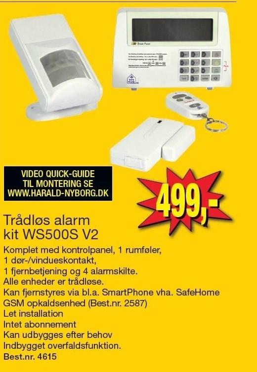 Trådløs alarm kit