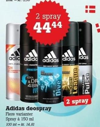 Adidas deospray 2 spray