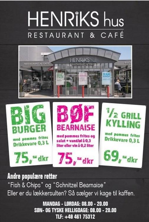 Big burger, Bøf bearnaise el. ½ grill kylling
