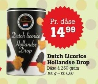 Dutch Licorice Hollandse Drop