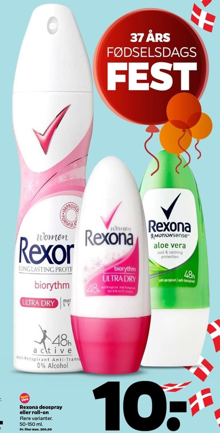 Rexona deospray eller roll-on