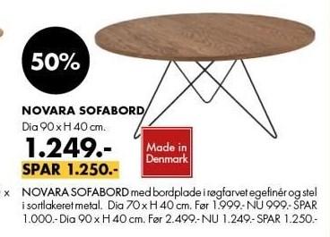 Novara sofabord