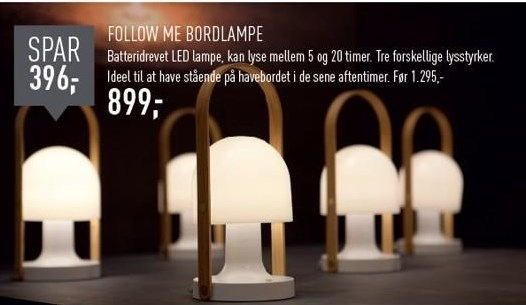 Follow me bordlampe