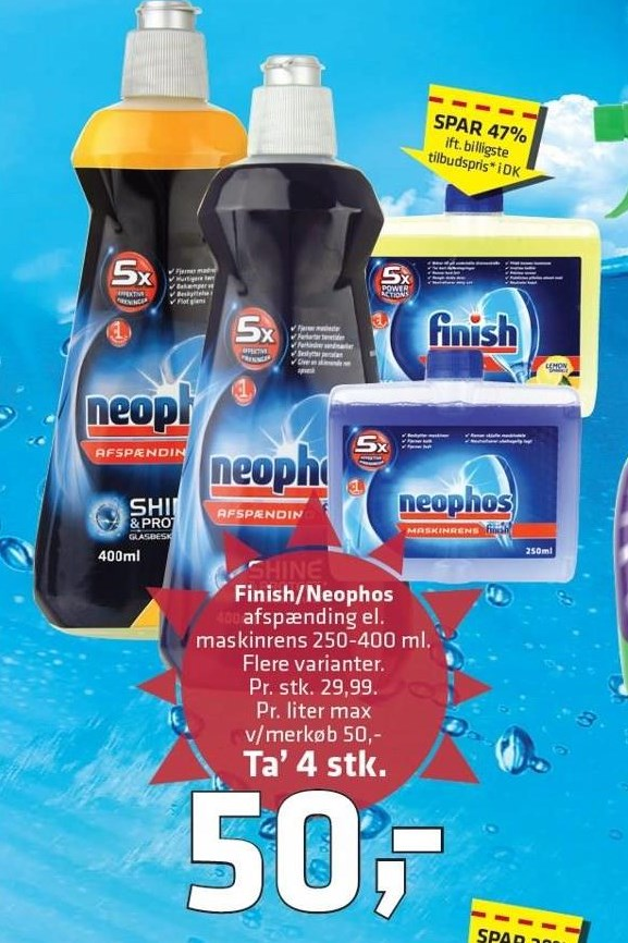 Finish/neophos 4 stk.