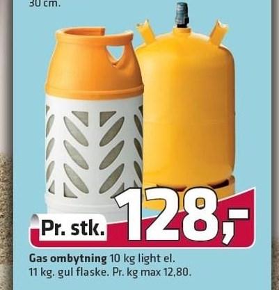 Gas ombytning