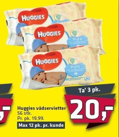 Huggies vådservietter 2 pk.