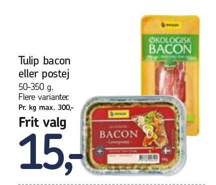 Tulip bacon eller postej - flere varianter