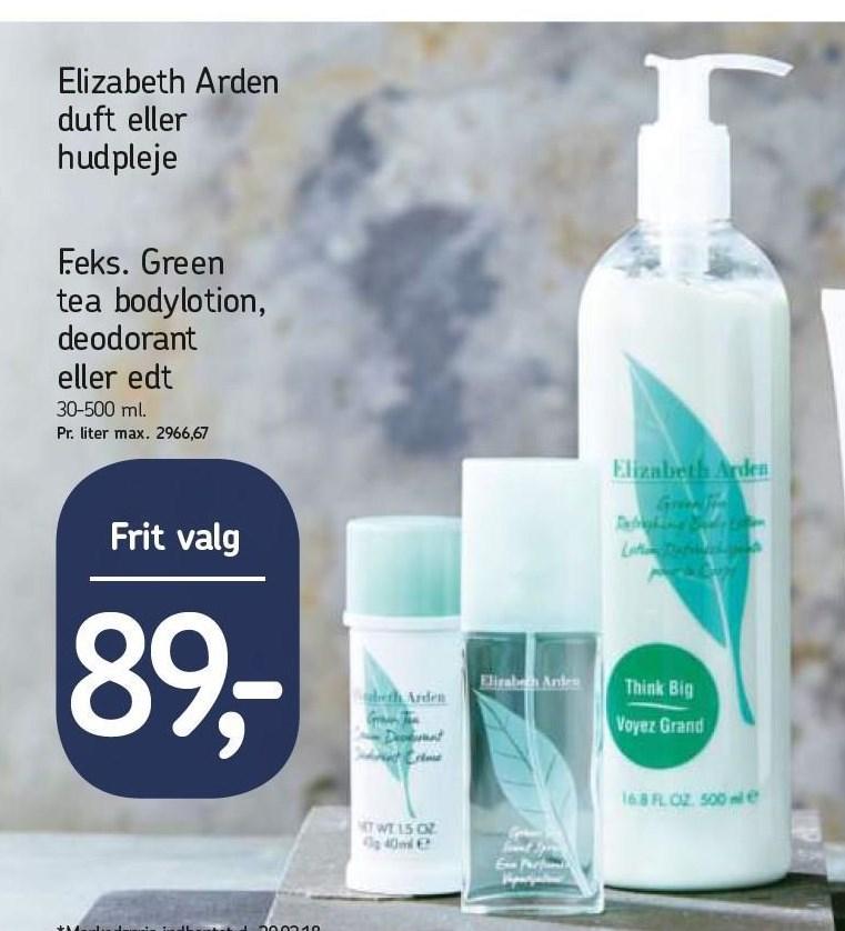 Green tea bodylotion, deodorant eller Edt