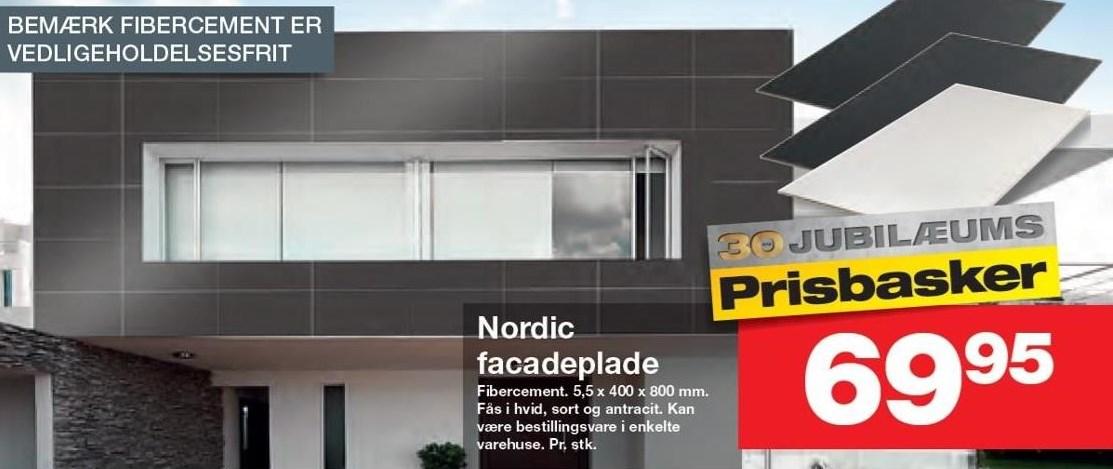 Nordic facadeplade