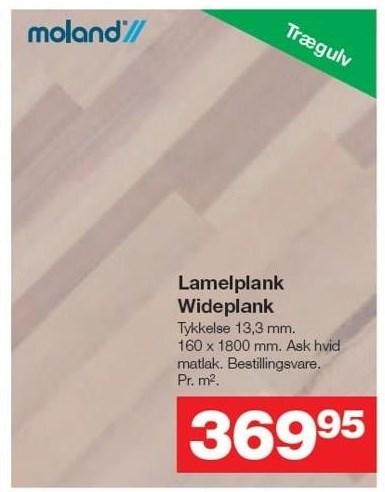 Lamelplank Wideplank