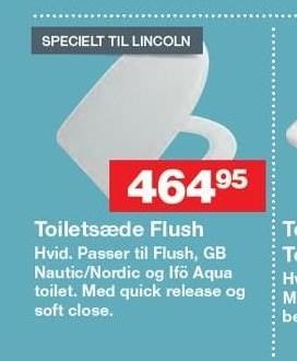 Toiletsæde Flush
