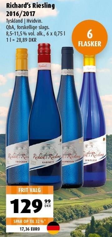 Richard's Riesling 6 flasker