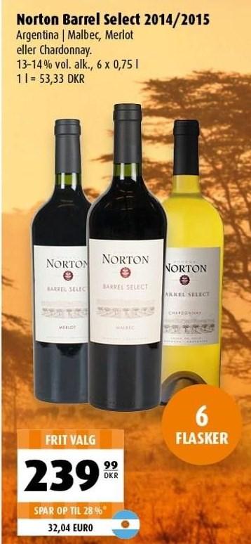 Norton Barrel Select 2014/2015 6 flasker