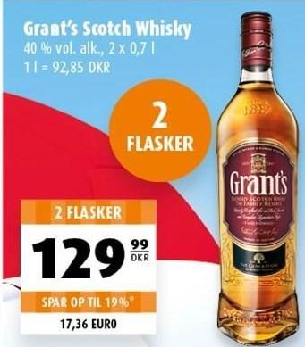 Grant's Scotch Whisky 2 flasker