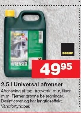 2,5 l Universal afrenser