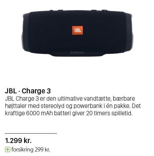 JBL bærbar højttaler