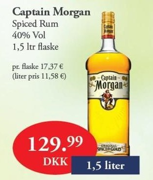 Captain Morgan 1,5 liter