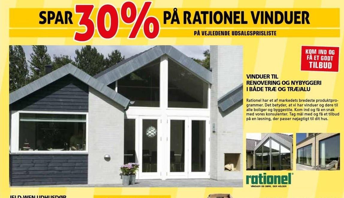 Kun i Vorupgruppen - Spar 30% på rationel vinduer