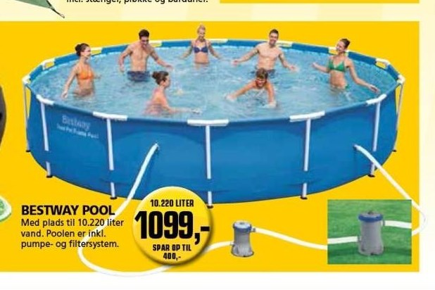 Kun i Vorupgruppen - Bestway pool
