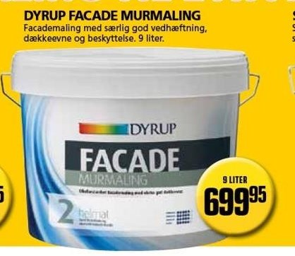 Kun i Vorupgruppen - Dyrup facade murmaling