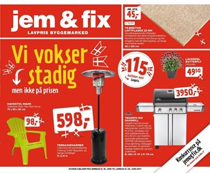 jem & fix: Gyldig t.o.m lør 24/6