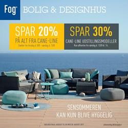 Fog Bolig & Designhus: Gyldig t.o.m søn 20/8