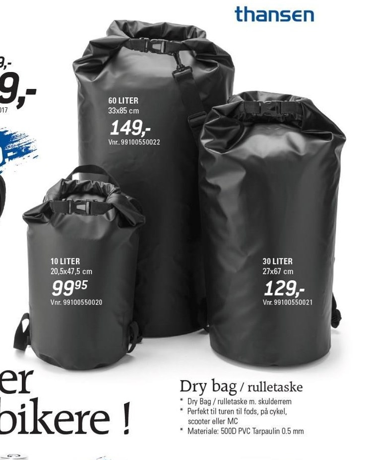 Dry bag / rulletasker