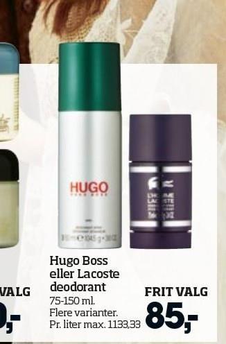 Hugo Boss eller Lacoste deodorant
