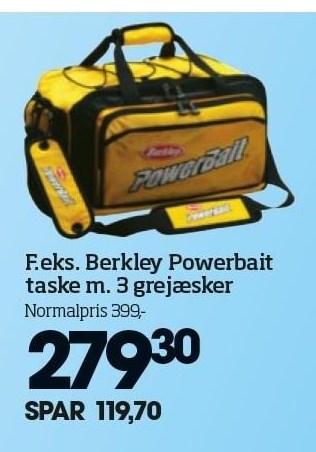 Berkley Powerbait taske m. 3 grejæsker