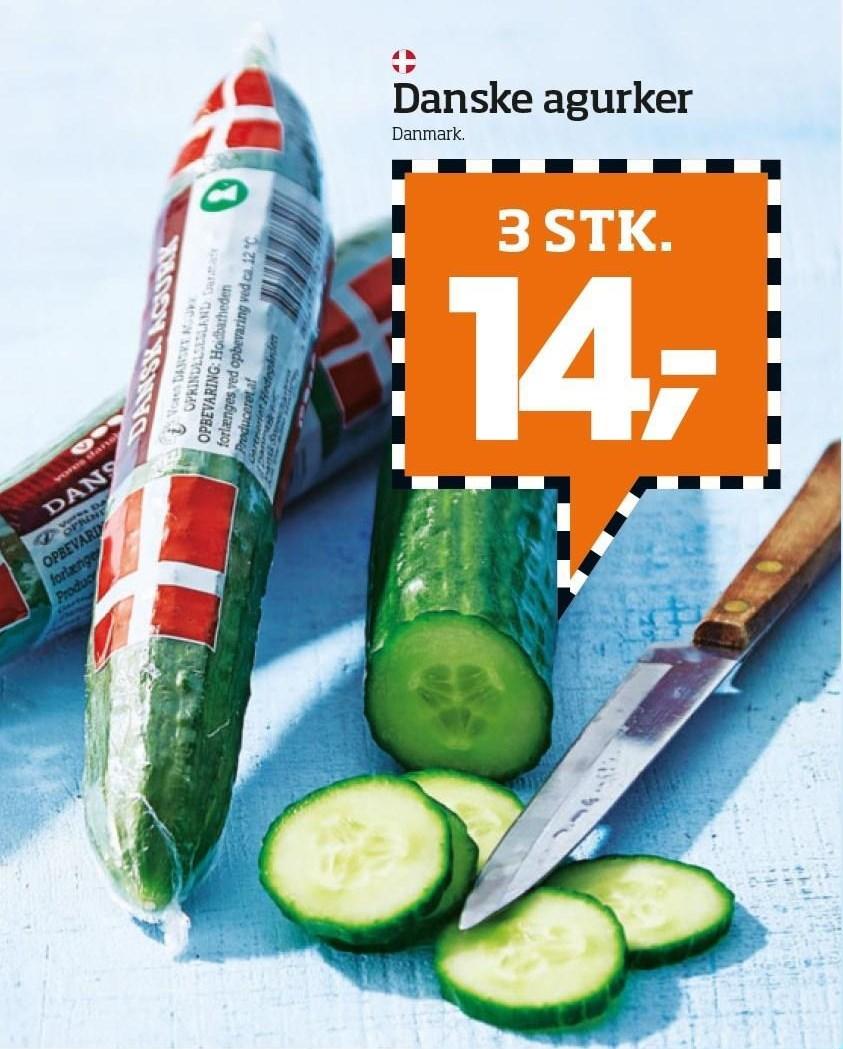 Danske agurker 3 stk.