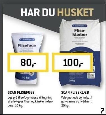 Scan flisefuge eller fliseklæb