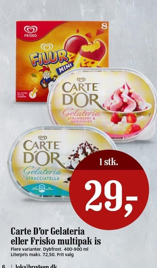Carte d'or gelateria eller frisko is