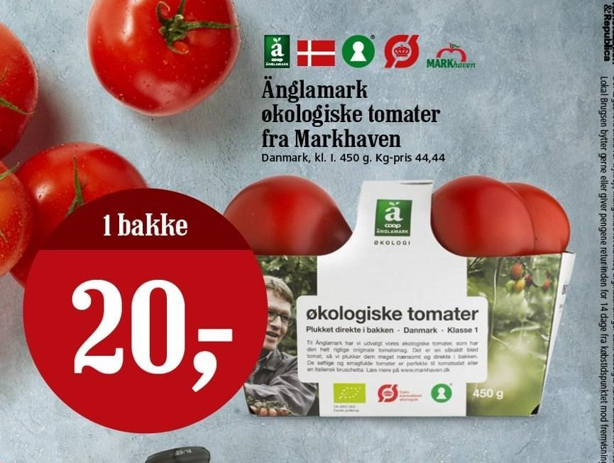 Økologiske tomater fra markhaven