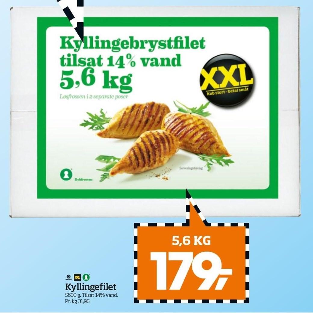 Kyllingefilet - 5,6 kg