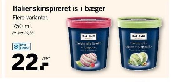 Italienskinspireret is i bæger