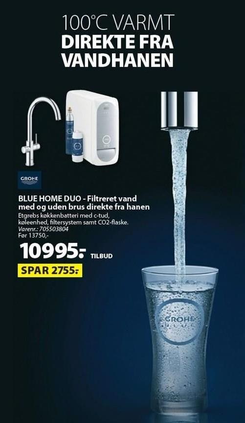 Blue Home Duo - Filtreret vand med og uden brus