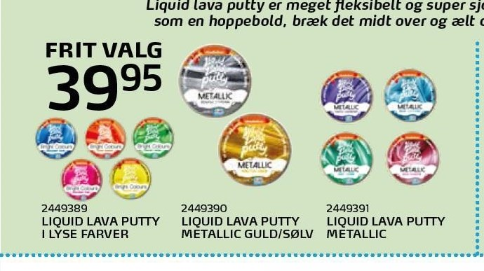 Liquid Lave Putty