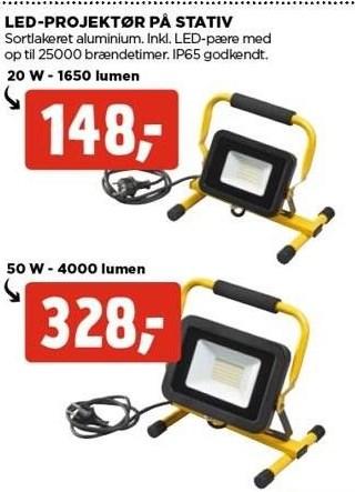 LED-projektør på stativ