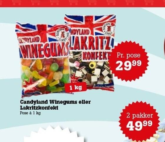 Candyland Winegums eller lakritzkonfekt