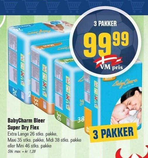 BabyCharm Bleer Super Dry Flex 3 pk.