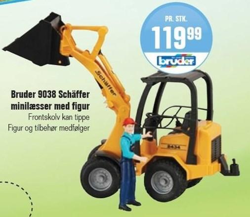 Bruder 9038 Schäffer minilæsser med figur