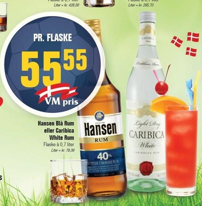 Hansen Blå Rum eller Caribica White Rum